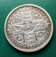 More details for 1849 victoria gothic florin silver coin #558