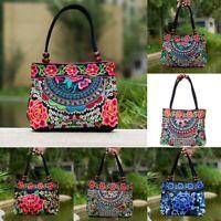 Chinese Style Women Handbag Embroidery Ethnic Summer Fashion Handmade Flower B3D