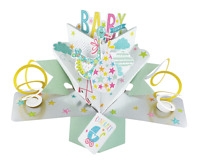 Baby Shower Pop-Up Greeting Card Original Second Nature 3D Pop Up Cards
