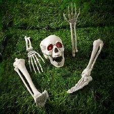 Halloween Miedo Esqueleto Huesos con estacas de tierra iluminan los ojos/Prop/Fiesta