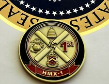 """OFFICIAL """"INSIGNIA"""" COIN OF (HMX-1) MARINE HELICOPTER SQUADRON~PRESIDENT'S HMX-1"""