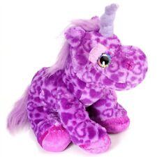 "Sweet & Sassy 12"" Unicorn Purple Plush Soft Toy Cute Glitter Eyes sweet n sassy"