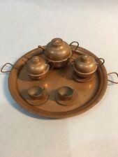 Miniture Copper Tea Set, 9 Pieces