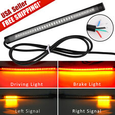 1x Motorcycle 48 LED Tail Rear Brake Stop Turn Signal Integrated Light Strip Bar