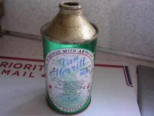 Van Merritt Beer Burlington Brg Co Burlington Wis Cone Top Inside Beer Can Wi