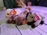 Ty beanie babies Ewey, Chipper And Goatee Lot 1999 VTG W Tags