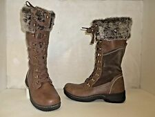 Denver Hayes Women's Brittany Fur Trim Lace-Up Winter Boot Brown Size 9 Used!!!!