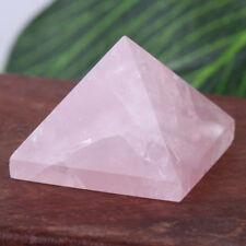 20mm Triangular Pyramid Pink Quartz Rose Crystal Pyramid Healing Home Decoration