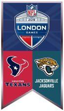 NFL LONDON GAMES METAL LAPEL PIN HOUSTON TEXANS VS JACKSONVILLE JAGUARS WEMBLEY