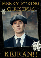 PEAKY BLINDERS Personalised Christmas Card - Cillian Murphy/Thomas Shelby