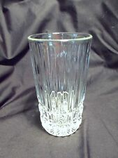 *NEW* Set of 4 vintage FOSTORIA clear CRYSTAL glass HERITAGE highball GLASSES