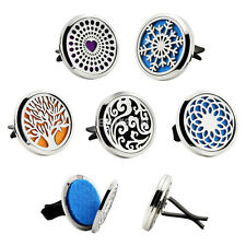 Stainless Clip on Car Air Vent Freshener Essential Oil Diffuser Locket Case new
