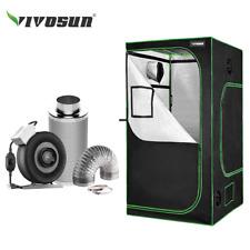 "VIVOSUN 4' x 4' Grow Tent w/ 4"" 6"" 8"" Inline Fan Carbon Filter Air Ducting Kit"