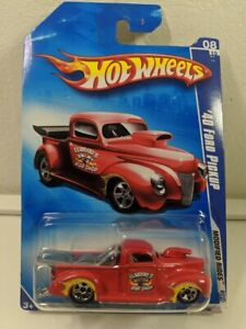 Hot Wheels 2009 Modified Rides Series Elwoods '40 FORD PICKUP (Red) #164