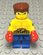 LEGO New World Champion Boxer Mini Figure W/ Red Boxing Gloves,dual/Double Face