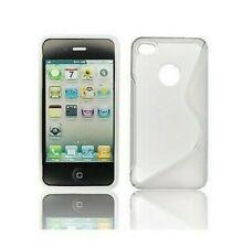 Housse Silicone Coque Etui IPHONE 4 4S Blanc Design