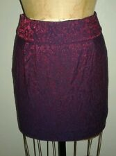 Urban Outfitters Purple Red Glitter Bubble Skirt Sz 4