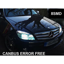 * MERCEDES C-CLASS W204 XENON COOL WHITE LED SIDELIGHT BULBS ERROR x4 BULBS