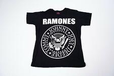 Vintage Black Ramones T-Shirt Size Xl Punk Rock Concert Band