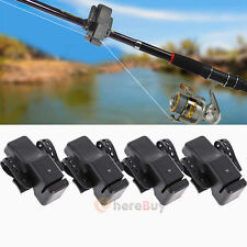 4PC Electronic Fishing Bite Sound Alarm LED Light Alert Bell Band On Fishing Rod
