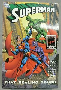 SUPERMAN - THAT HEALING TOUCH - 2005 - FORBIDDEN PLANET - SIGNED BY GREG RUCKA.