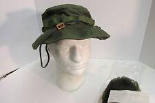 Us Vietnam Era Od Jungle Boonie Hat 6 7/8 Og-107 1969 Nos In Wrap W Mosquito Net