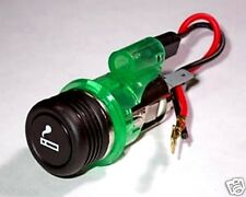 New 12V Illuminating Green Car Cigaret Cigar Lighter Power Socket Charger SatNav