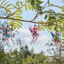 Hanging Metal Fairy Garden Ornament Colourful Outdoor Figure Nymph Floating