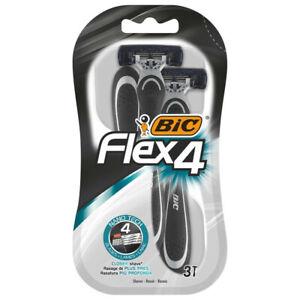 BIC Flex4 Mens Disposable Razors 3 pack Free Post