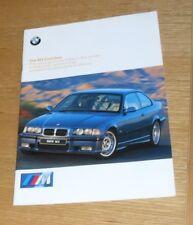 BMW M3 Evolution Brochure 1997 E36 Evo Saloon - Coupe - Convertible
