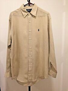 Men's M Blake Ralph Lauren 100% Linen LS Shirt