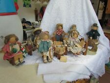 Lot of 7 1985-1989 Lizzie High Wooden Dolls with Tags