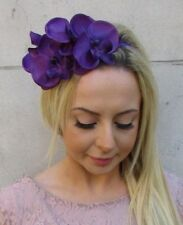 Purple Orchid Flower Fascinator Headpiece Headband Races Wedding Hair Band 5976