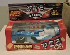 NIP Pez Racing Car Candy Dispenser Blue Indy 500 Style