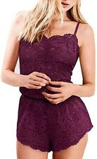 Body by Victoria Ginger Floral Lace Romper X-Small