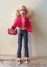 My Scene Barbie Doll Sporty Style Adidas W Red Jacket Pleather Pants Shoes Purse
