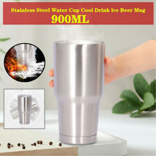 30oz Stainless Steel Water Cup Drink lce Beer Mug For Marine Boat RV Car 900ML