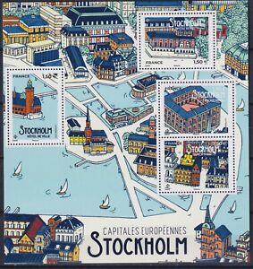 France 2021 Capitals, Stockholm, Architecture, Art MNH**