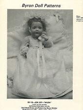 "1980's VTG Byron Doll Clothes ""Hilda"" Dress Pattern BY-19"