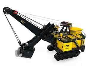 P&H 4100XPC Mining Shovel w/ Lights - 1/50 - TWH Weiss - Brand New - Diecast