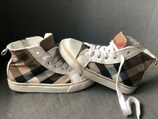 Genuine Girls or Boys Beige Canvas High Top Trainers