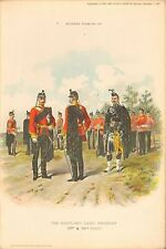 More details for 1895 richard simkin military print, 96 the highland light infantry (71st & 74th
