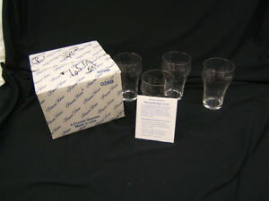 Lot of 4 Princess House Crystal Glasses MIB Heritage Pattern