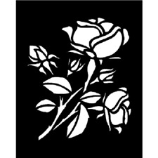 ROSE Large Stencil Template Airbrush Paint  8