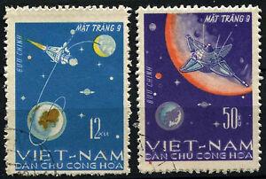 North Vietnam 1966 SG#N445-6 Luna 9 Space Flights Used Set #D35478
