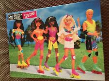 Barbie Rollerblading Giant 63 Piece Floor Puzzle 1991 Sealed New Unopened Q533C