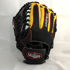 "Louisville Slugger Air 12.5"" Black/Gold Trap-Web LHT Outfielder Baseball Glove"