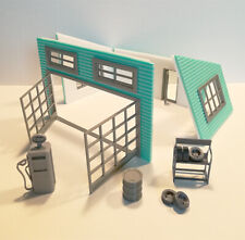 Old Garage Diorama Model in Scale 1:43 Unpainted NEW