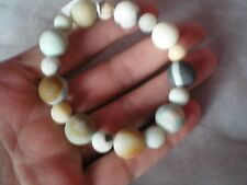 Multi coloured Amazonite bracelet, on stretchy jewellery elastic, 148 carats