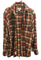 Woolrich Mens Long Sleeve Plaid Heavy Flannel Button Down Shirt M Warm